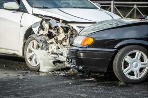 Car accident while driving company car