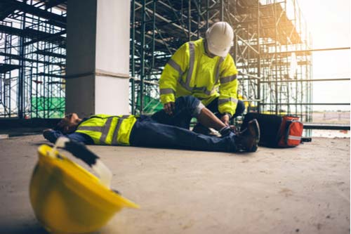 Worker injured in fall from a height at construction job