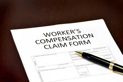 Form for workers' compensation claims process in Sunrise, Florida