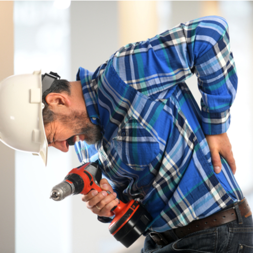 Image is of an employee with pre-existing injuries and conditions in Boca Raton were worsened while working on the job.