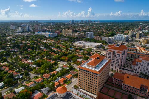Aerial image of Coral Gables Florida