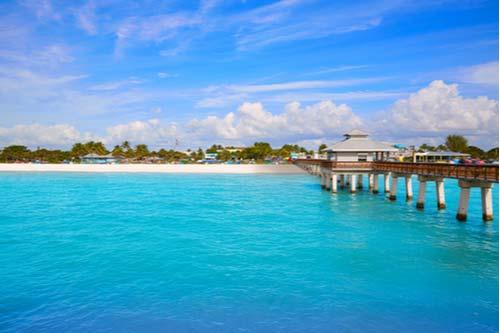 Fort Myers, Florida Pier beach