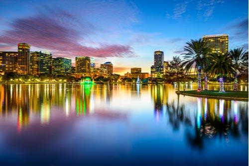 Orlando Florida downtown city skyline