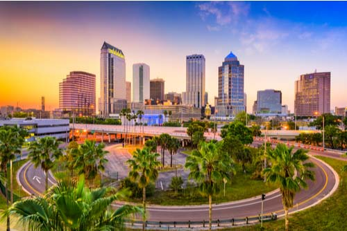 Tampa Florida downtown skyline
